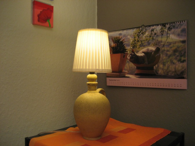 DIY Flurlampe aus Weinflasche
