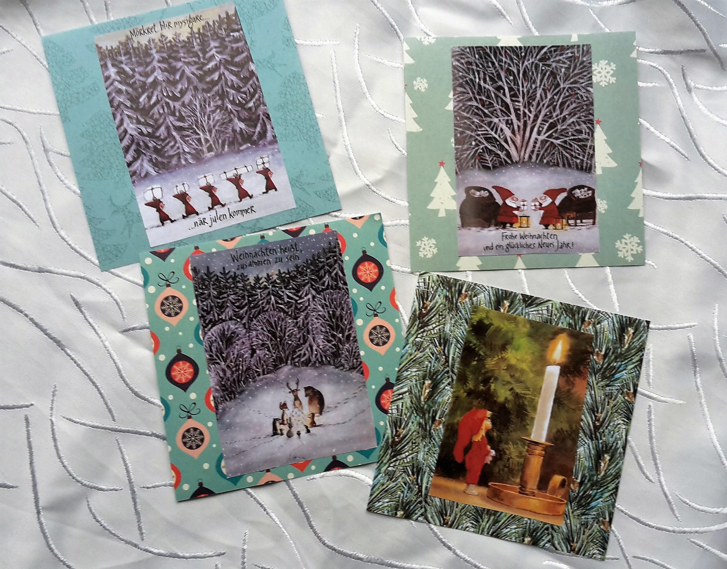 selbstgemachte weihnachtskarten sven nordqvist machnenphoto. Black Bedroom Furniture Sets. Home Design Ideas